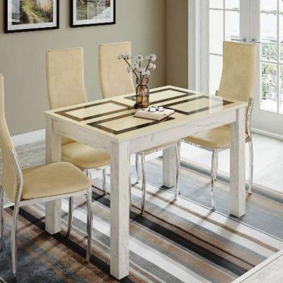 Стол обеденный «Норман» дуб крафт/рисунок «Плитка» (т)