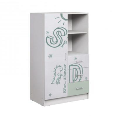Шкаф комбинированный «Вега Алфавит» мята (м)