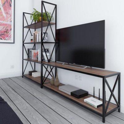 Стеллаж 6 + тумба ТВ