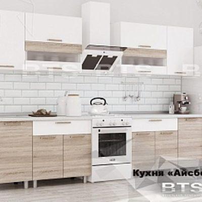 Кухня «Айсбери» белый/дуб санома 2,4 (б)