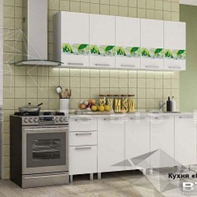 Кухня «Скарлет»белый/ фотопечать 2,0 (б)