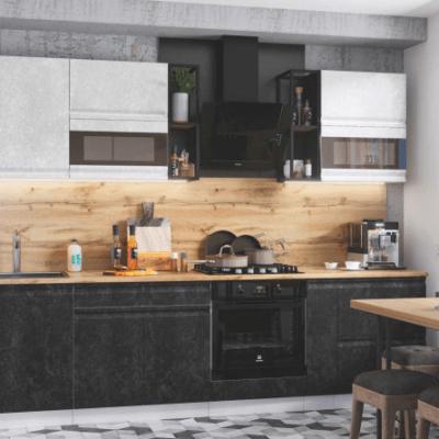 Кухонный гарнитур 2,8 м «Бруклин» комбинированная (иц)